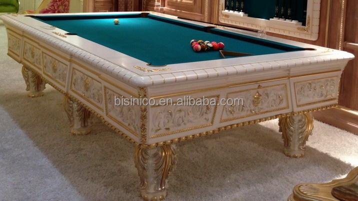 European Style Solid Wood Hand Carved Luxury Pool TableSnooker - Luxury billiards table