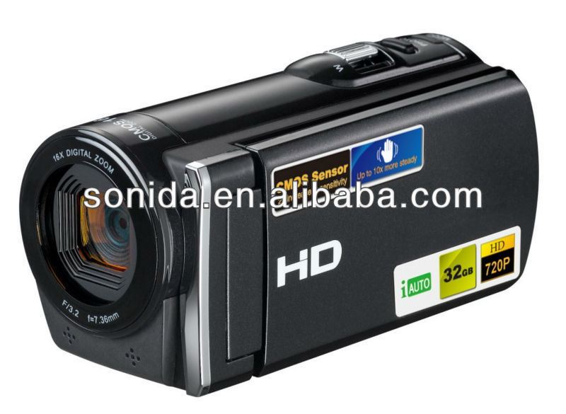 In bulk factory directly digital video camera camcorder 3.0 inch 12mega pixel handycam 8X digital zoom (HDV-601SX)