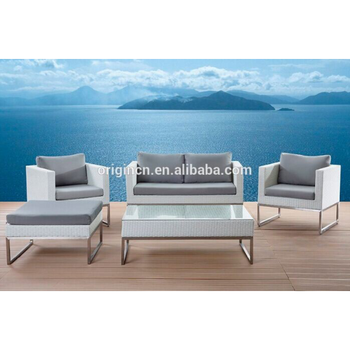 Greek Style Grey Color Office Restaurant Hotel Commercial Sofa Set White  Rattan Outdoor Furniture - Buy White Rattan Outdoor Furniture,Commercial ...