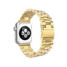 Металлический запасной ремешок из нержавеющей стали с пряжкой-бабочкой для Apple Watch, 44 мм 40 мм, серия iwatch 5 4 3 2 Sport Edition 38 мм 42 мм(Китай)