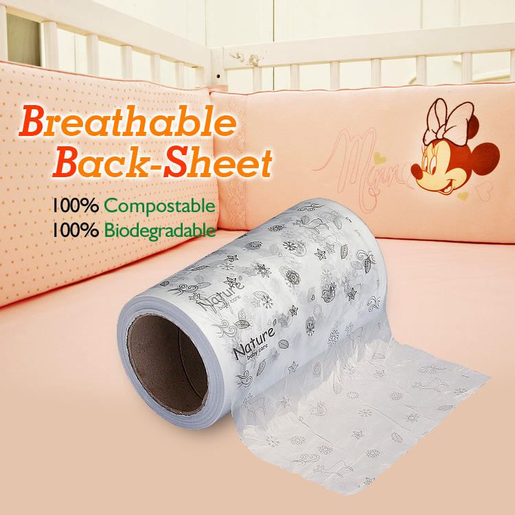 Ecopoly compostable product --baby breathable back-sheet film
