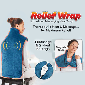 Extra-Long Neck Shoulder Heating Thermapulse Relief Wrap Massager Shawl Hot Therapeutic Back Wrap With Collar