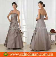 Simple Graceful Ruffle Bridesmaid Dress Patterns