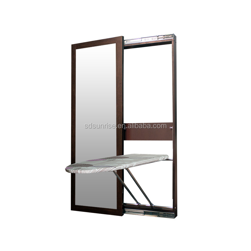 Sliding door wall mounted Foldable mirror commercial hotel <strong>ironing</strong> <strong>board</strong> from sunrise