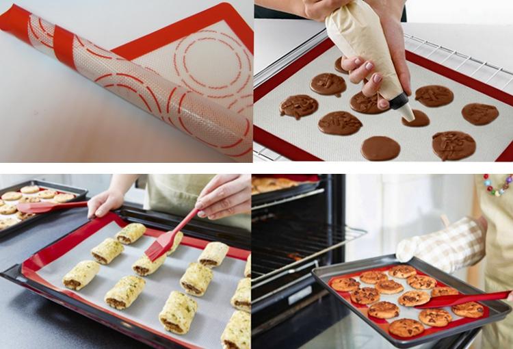 Revestimento De Silicone para Assar Antiaderente Panelas & Rolling-Macaroon/Pastelaria/Tomada De Bolinho-de Cozimento Macaron Silicone mat