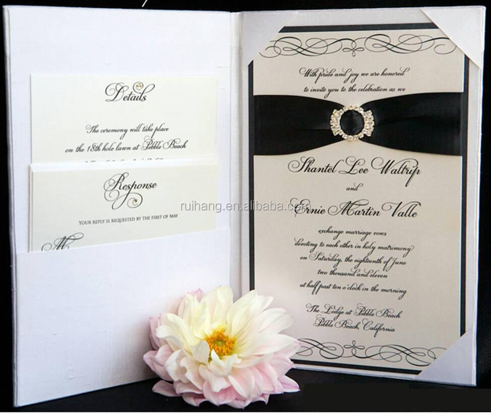 2016 Flocked Pocket Folder White Invitation Envelopes