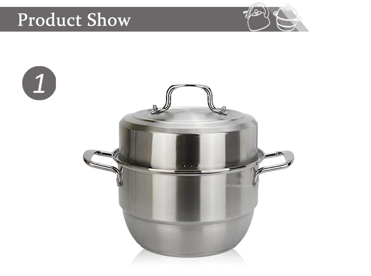 Stainless steel food steamer HC-02016-B