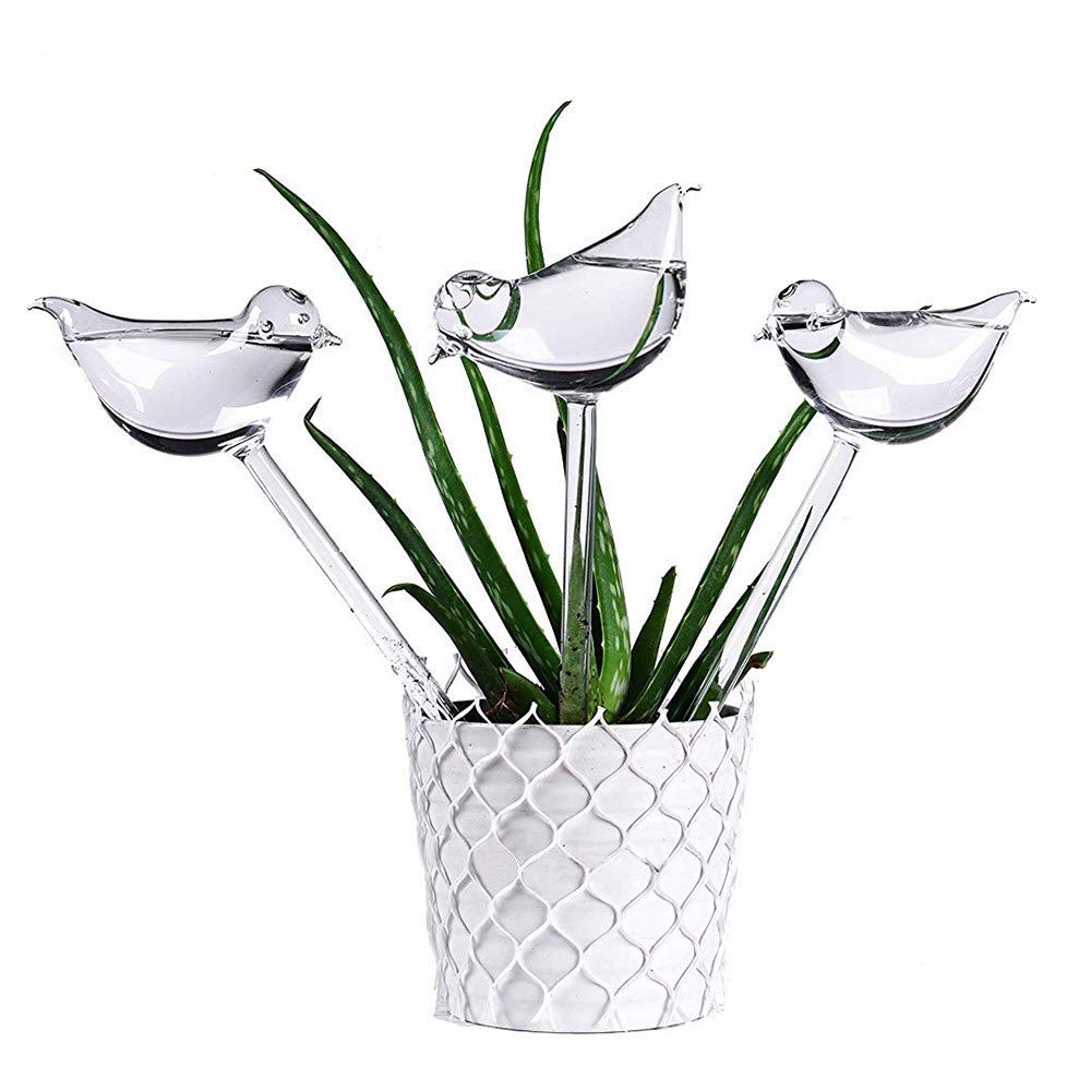White Sttech1 Self Watering Flower Plant Device Automatic Garden Sprinklers Water 2PCS Automatic Drip Irrigation Watering System