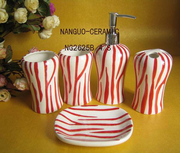 ceramic bathroom sets  tooth holder soap dish