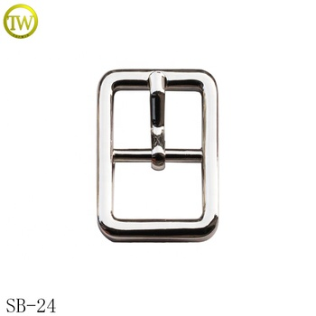 Custom shoes hardware small western pin buckle alloy metal pin buckle for bags