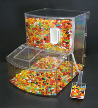 Fashion design acrylic sweet cantainer acrylic candy bin with scoop