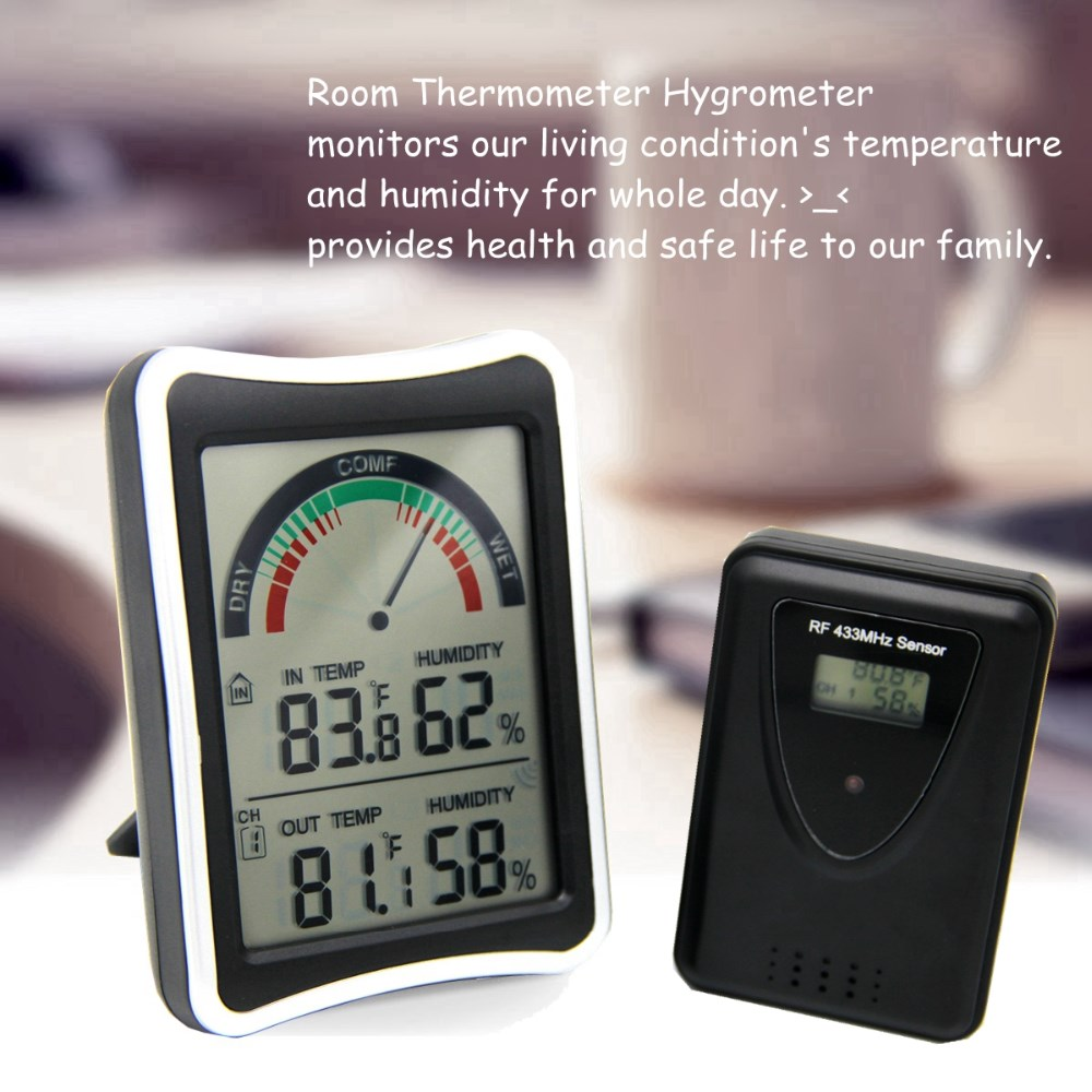 Large LCD Screen Thermometer  Ambient Air Thermometer Wearhouse Use