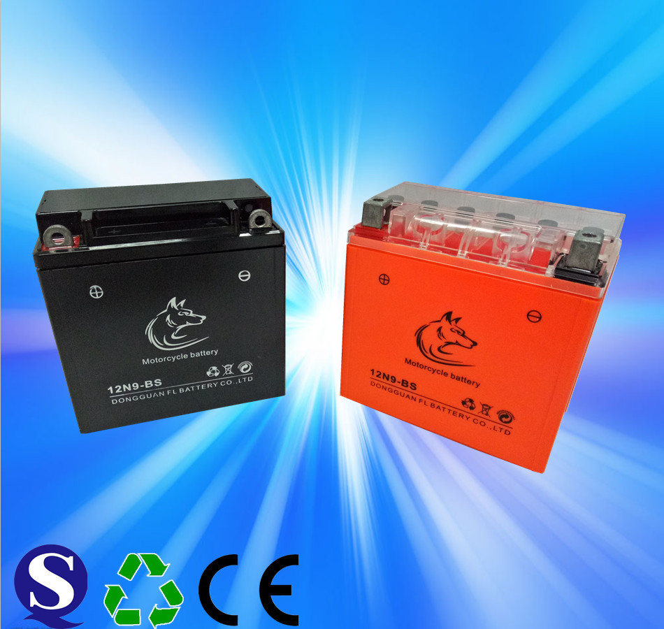 MF battery 12N9 motorcycle battery 12v 9ah