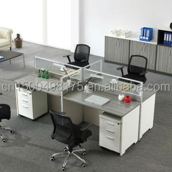 Melamine Board Office Workstation L Shaped Office Desk