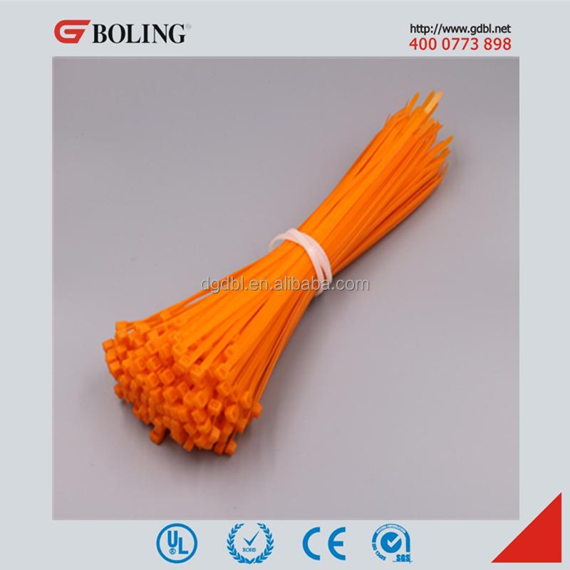 Orange Color Zip Tie,Nylon 66 Plastic Cable Tie,Nylon Cable Tie ...