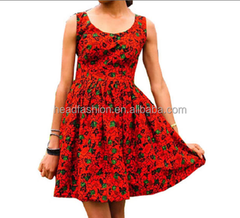 Lucky Red Beautiful Ladies Fashion African Dress,100% ...