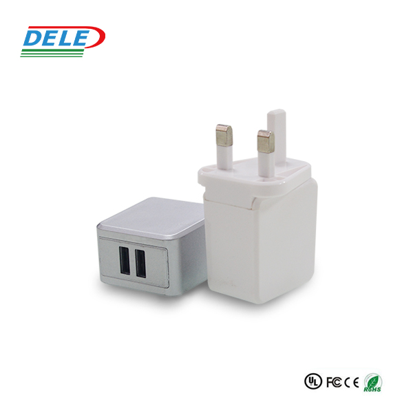 wholesale 5V 3.4A EU AU US UK plug 2 dual port usb travel wall adapter charger for mobile