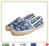 Blue fashion mid cut Chinese ancient style casual espadrille shoes for women