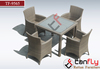 space saving patio furniture leisure rattan dining set