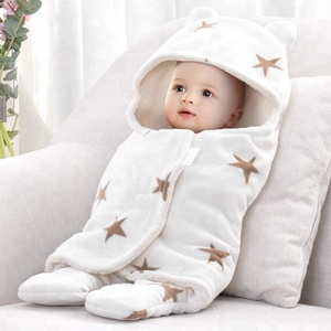 Wholesale Newborn Custom Soft Fleece Wearable Swaddle Baby Blanket