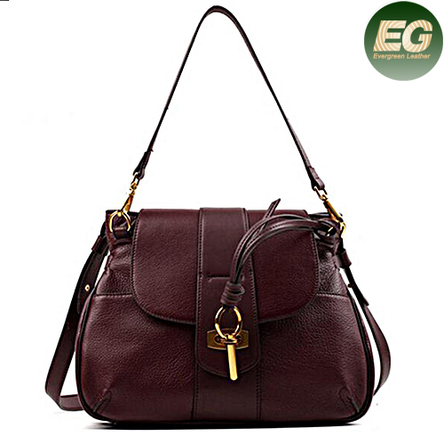 2017 new style handbags italian leather tote bag key opening design shopping bags for lady EMG4894
