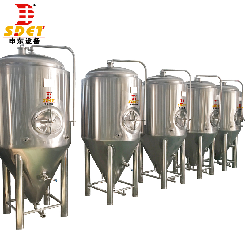 100l beer equipment,glycol jacket conical fermenter,100l conical fermenter