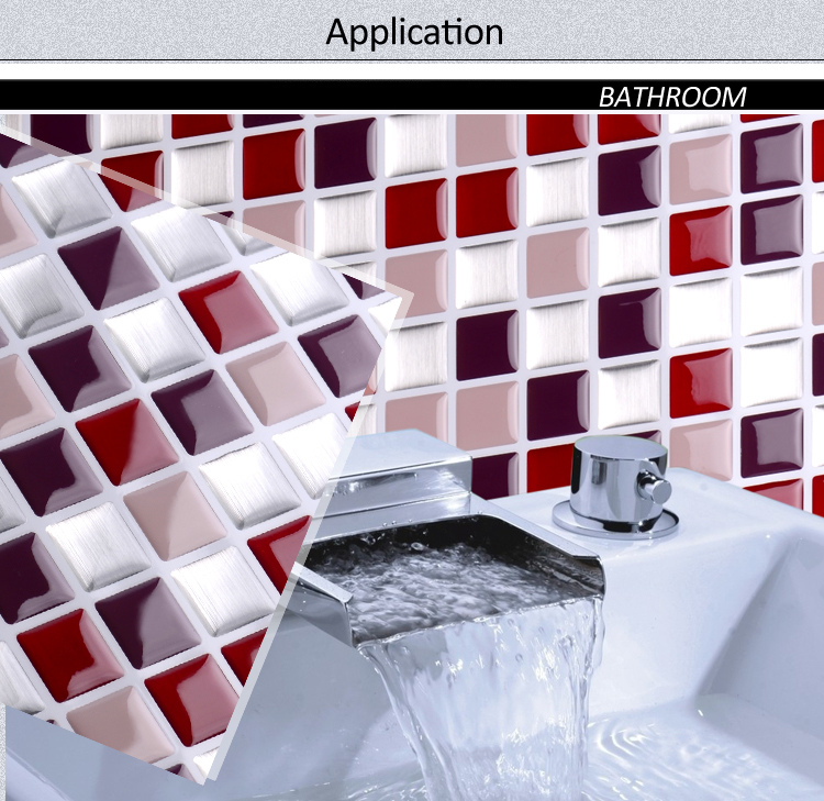 New design beautiful modern crystal vinyl mosaics for kitchen backsplash decor project