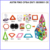 children toys new 2016 style Fight inserted blocks removable magnetic roller coaster roller track ball Educational toys
