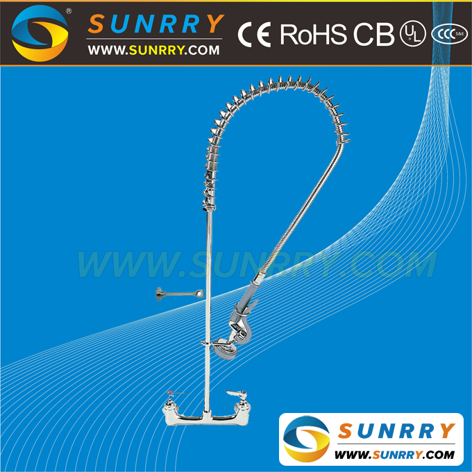 High pressure stainless steel instant hot water dispenser tap faucet wall embedded