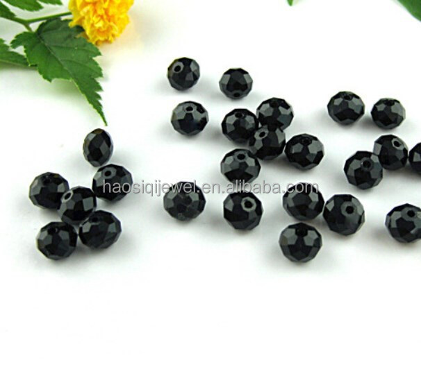 2015 strand loose bead black 2mm/4mm/6mm/10mm faceted crystal bead