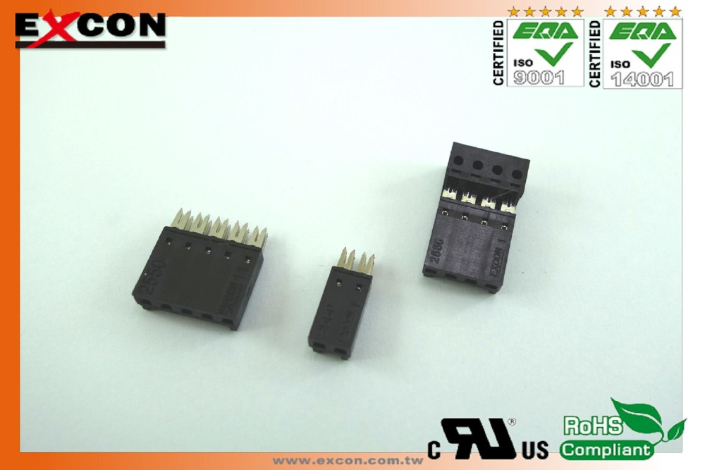 "2.54mm(.100"") Excon 2550 series for AMP HE/1402, 1302, 13, 14 Housing,Wafer,Terminal connector"
