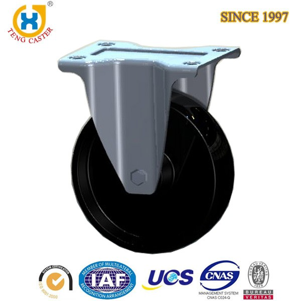 5 inch size Soft rubber rigid caster wheels use in baby bed