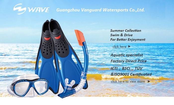New design arrival pc lens Diving Mask,easy breath Snorkel and high quality Fins set