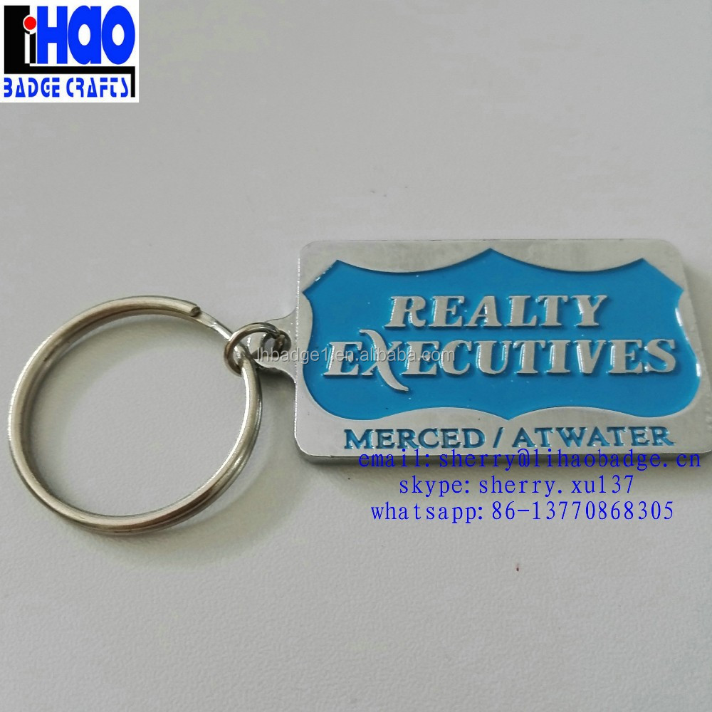 Wholesale Real Estate Agent Metal Badge Keyring,Business Card Type ...