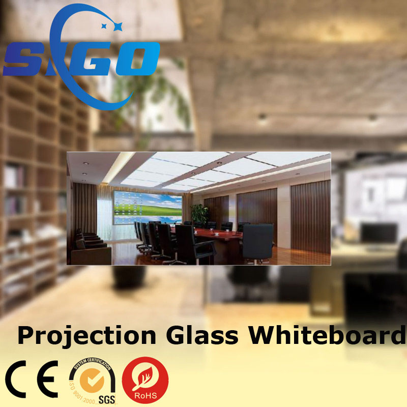 White Board Office Projection Magnetic Glass Whiteboard