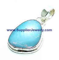 Forever Fashion Wholesale Jewelry Blue Topaz Pendants & Charms