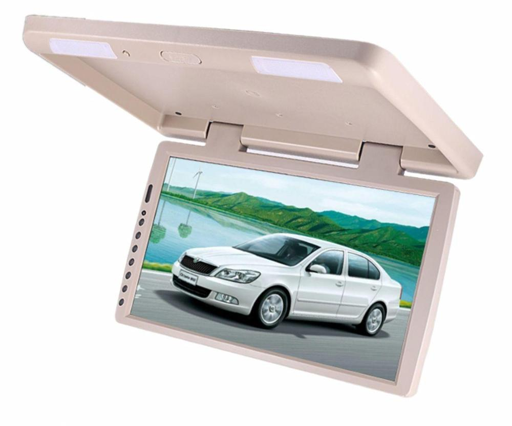 "BLACK 17"" TV FLIP DROP DOWN TFT LCD MONITOR SCREEN CEILING MOUNT CAR"