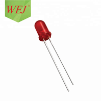5mm round red led diode 640nm/660nm RoHS compliant