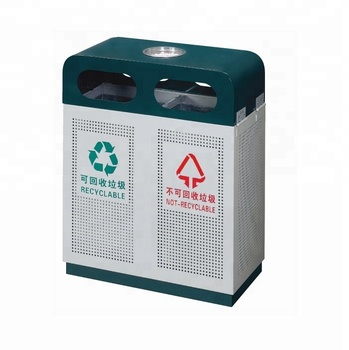 Public Metal Classifying Rubbish Bin trash bin Standing Dustbin trash can waste bin garbage can