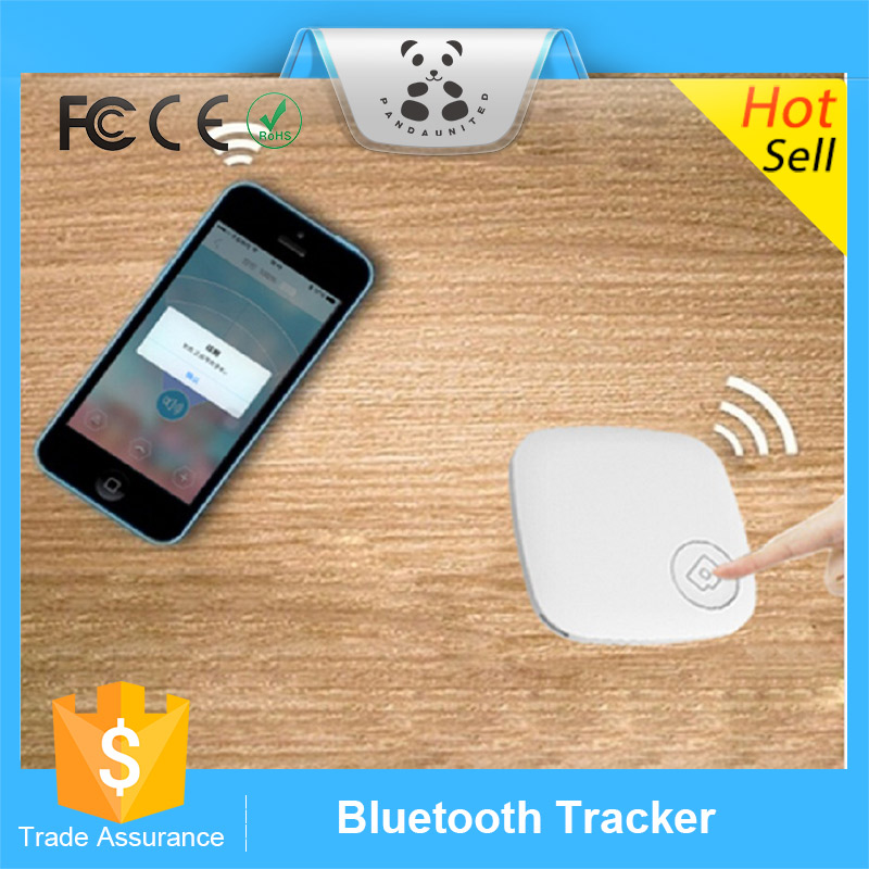Square ABS Tracker Bluetooth Locator Anti Lost Alarm Wallet Pet Child Key Finder With Self Timer