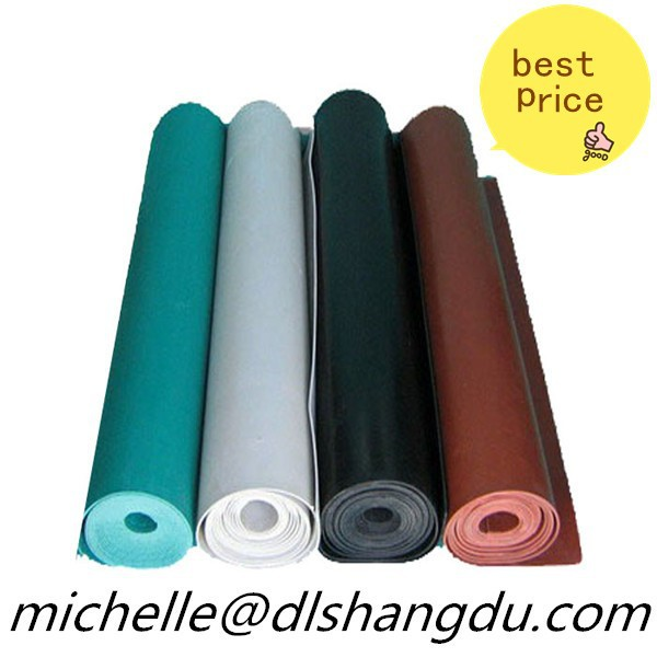 neoprene rubber roll/mat fabric white -factory direct supply