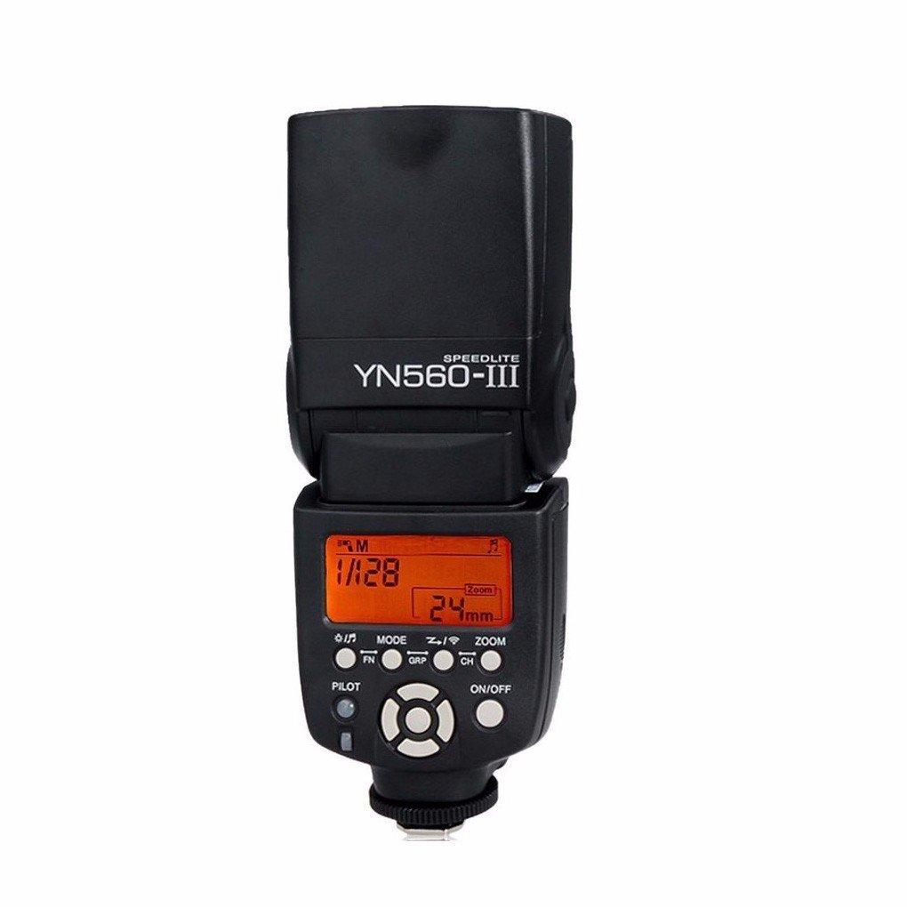HolaFoto Yongnuo YN560III YN 560 III Ultra-long-range wireless flash Speedlite with Integrated 2.4-GHz Receiver for Canon, Nikon, Pentax, Olympus