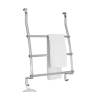 Merveilleux Get Quotations · MDesign Over The Door Towel Rack With Hooks For Bathroom    Chrome
