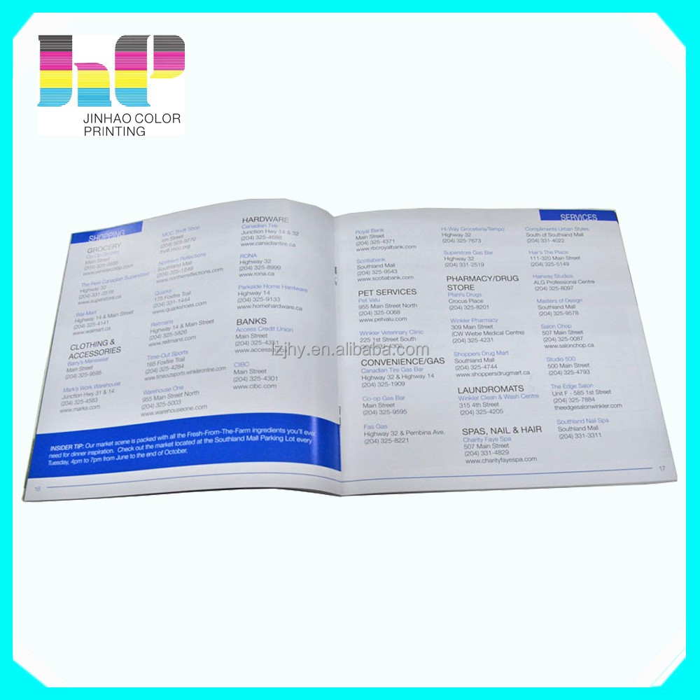 Paper Back Softcover Perfect Binding Brochure Printing