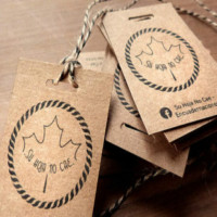 Custom clothing paper hang tags printing labels