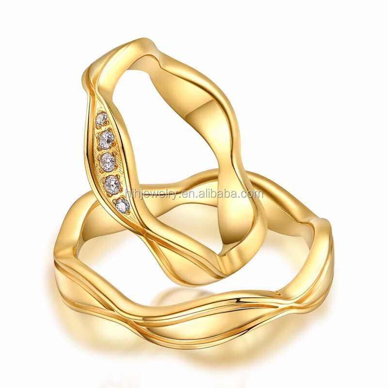 Simple 18k Gold Engagement Wedding Ring Design For Couples Buy