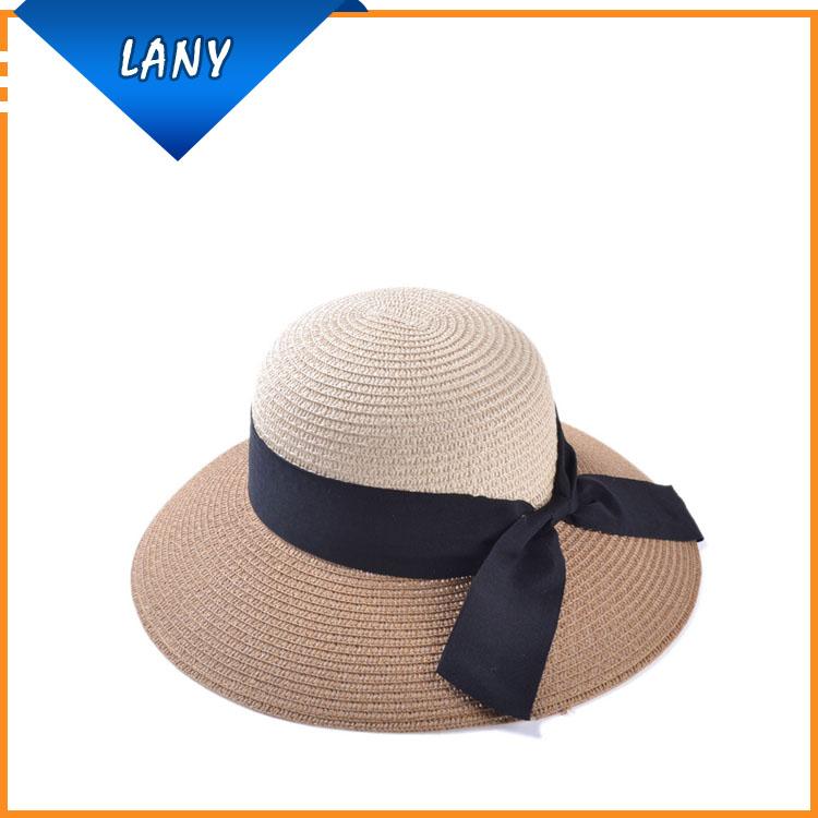 2017 moda casquillo de la playa sombrero de paja de ala ancha ...
