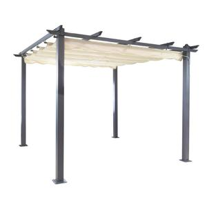 Outdoor gazebo Square Easily Assembled Metal Pergola Gazebo shade