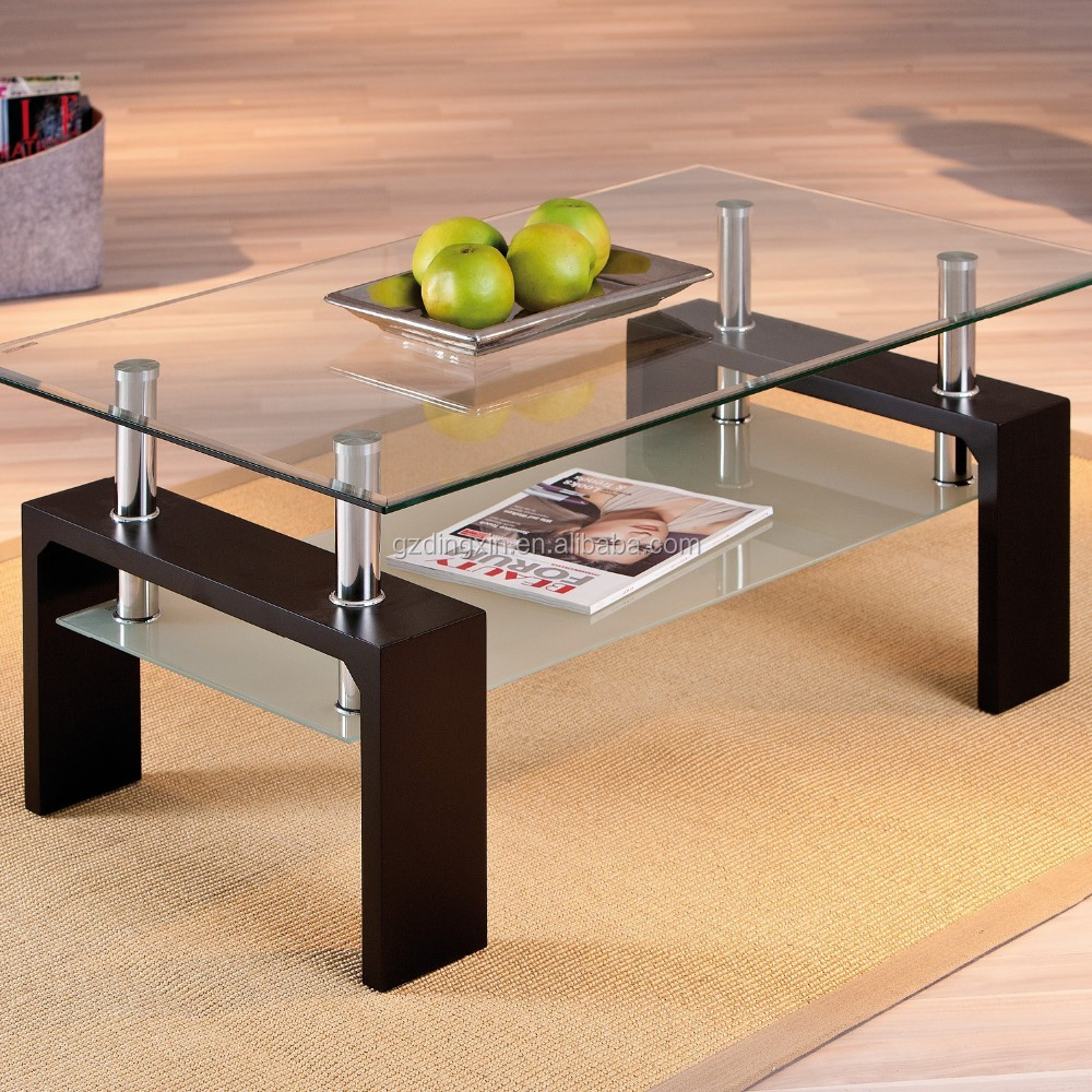 Elegant Glass And Metal Coffee Table: Elegant Cheap Rectangle Stainless Steel Glass Cocktail