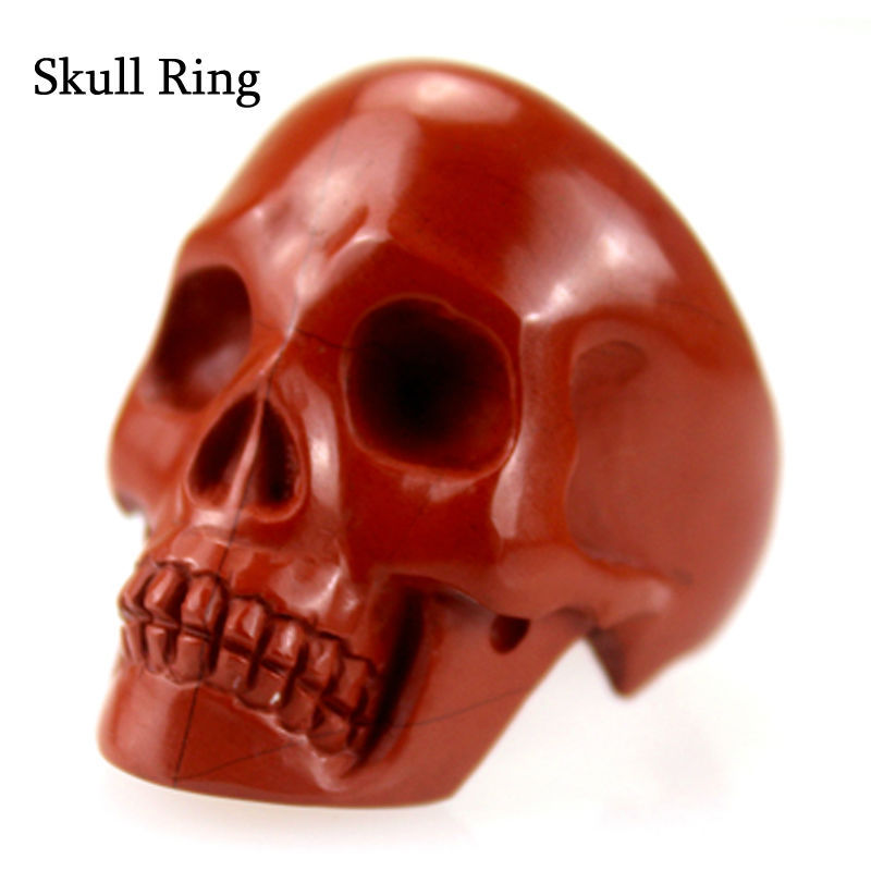 China Factory direct selling brand gemstones rings,gemstone skull rings